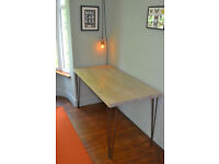 Industrial Kitchen Table Mid Century Style hairpin - We Can Deliver