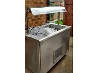 Commercial Victor Salad Bar - Catering / Cafe Equipment, Chilled Serving, With Tubs, Stainless Steel