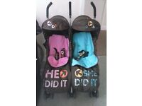 COSATTO TWIN PUSHCHAIR BUGGY DOUBLE