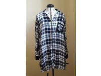 Ladies size 16 harry potter nightshirt. Black and white chequed with pocket.