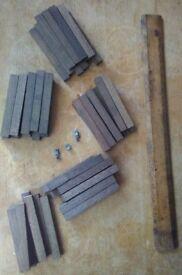 wooden model railway sleepers.