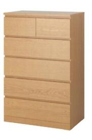Malm chest of drawers (IKEA)