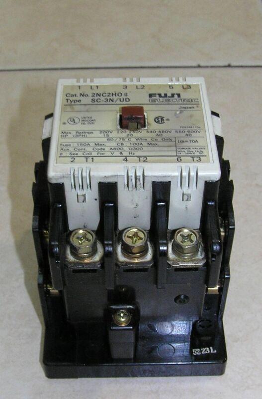 Mazak Fuji Electric SC-3N/UD Contactor Cat. No. 2NC2H0 3-Ph 70A