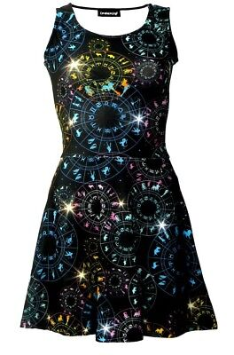 Astrologie Horoskop Sternzeichen Tierkreis Symbole Galaxis Cosmic bedruckt