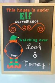 Personalised Countdown to Christmas chalkboard