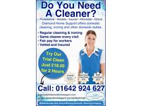2 hour trial clean £18‎ Domestic Cleaner Middlesbrough, Stockton, Redcar, Stokesley, Billingham ‎