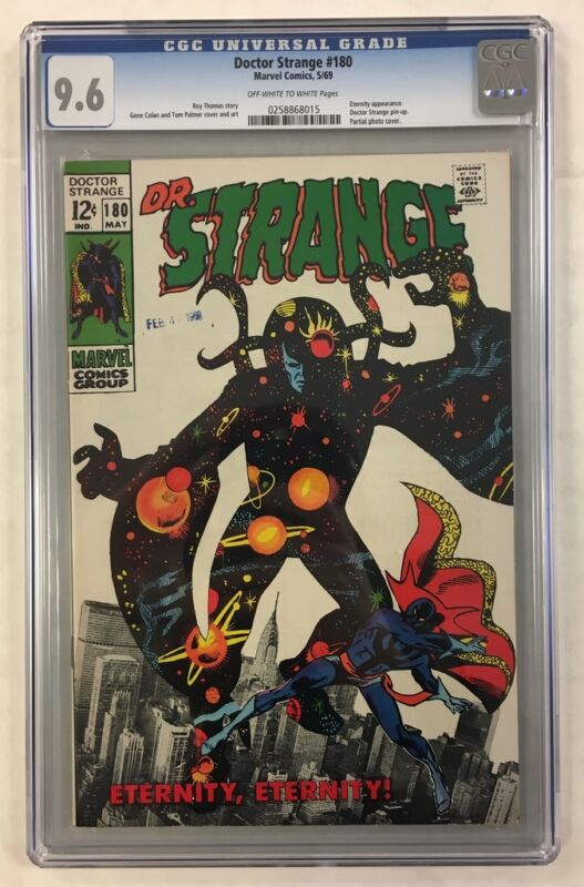 DOCTOR STRANGE #180 CGC 9.6 OW/W -- Eternity Cover and Appearance