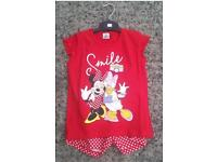 Girls Disney Minnie Mouse Pyjama Set (large quantity available 100+pieces)