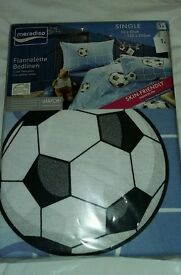 New Football single duvet cover BNIP 100% cotton