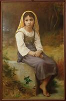 Bouguereau original oil painting