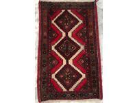 PERSIAN design CARPET RUG Hand Made Woven Oriental Wool 116x 69cm
