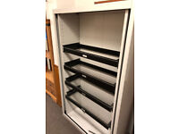 ***FREE*** Metal storage cupboard / cabinet with four pull out shelves to hold files