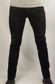 TOPMAN - Men's Black Stretch Skinny Jeans - UK Size 30s