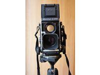 Mamiya twin lens film camera. C330 Professional S.