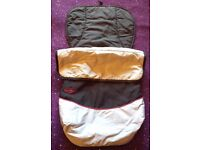 pushchair liner with zip on footmuff
