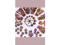 New Wheel Nail Art Rhinestone Diamond Bottom