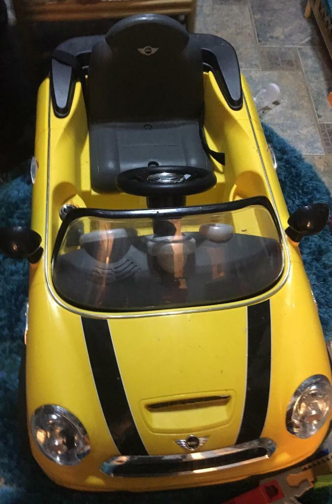 Kids Electric minni cooper car Yellow