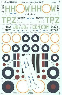 1:48 Storms in the Sky Pt XI Typhoon Tempest AeroMaster Decals Sheet 490