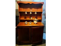 Lovely solid wood dresser 2 opening doors with internal shelf nice piece of furniture