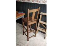 antique clerk chair, antique chair, wooden chair, desk chair, vintage stool, kitchen stool