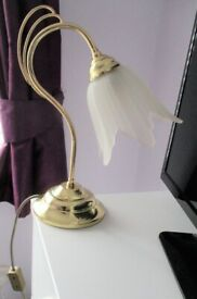 VINTAGE BHS BRASS TABLE / BEDSIDE LAMP RETRO STYLE