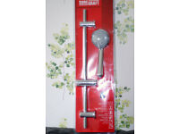 Brand new Chrome Shower kit with 3 spray shower head.