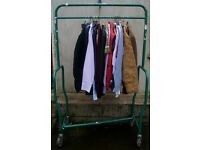 Heavy Duty Clothes Rail Hanging Clothing Storage Industrial Railing 4.5 feet