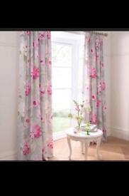 "Pretty curtains 228"" drop lined"