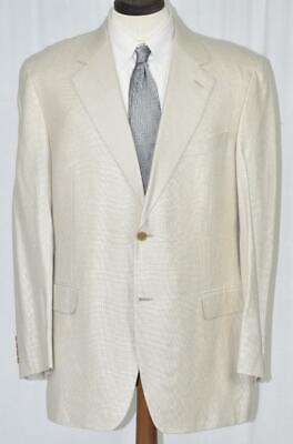 NEW $1295 CANALI Silk Linen Wool Side Vent Beige Hopsack SportCoat Jacket 44 R