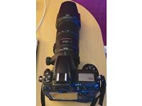 Nikon D700 with Nikon Battery grip and Sigma 70-200mm 2.8 stabilised Lens
