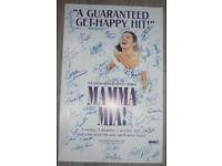 Mamma Mia Original Broadway 2010 Cast ABBA Poster Cast Signed