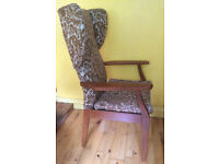 Parker Knoll wing back arm chair