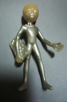"""1998 SHADOWBOX ROSWELL GREY ALIEN figure 4"""" toy loose"""
