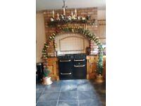 Fibre optic Christmas arch (for around a door)