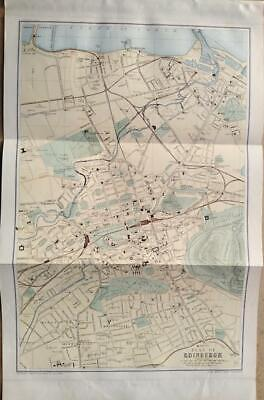 c1880; City plan of Edinburgh; Scotland; Bartholomew