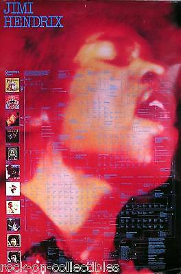Jimi Hendrix Geneology Chart Rare Promo Poster