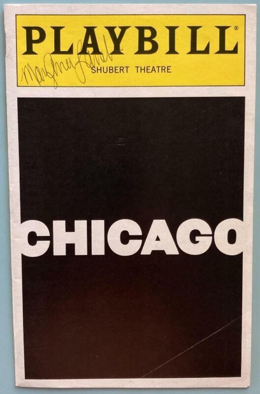 Signed Chicago Playbill Denis Jones Mary Ann Lamb Rocker Verastique Revival 1997