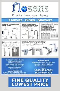 Shower panels | shower sets | washroom faucets Kitchen Faucets | LIFETIME WARRANTY| cUPC