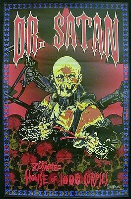"""Rob Zombie Movie """"House of 1000 Corpses: Dr. Satan"""" Character Poster Horror Fan"""