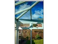 Global Conservatory ROOF with activ blue glass.