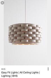 BHS loopy felt lampshade grey