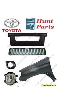 Toyota 4Runner 4 Runner 2010 2011 2012 2013 Fender Liner Inner Fog Lamp Light Bezel Grille Bracket Lower Valance Front