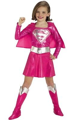 Girls Child Superman Licensed PINK SUPERGIRL - Pink Superman Costume