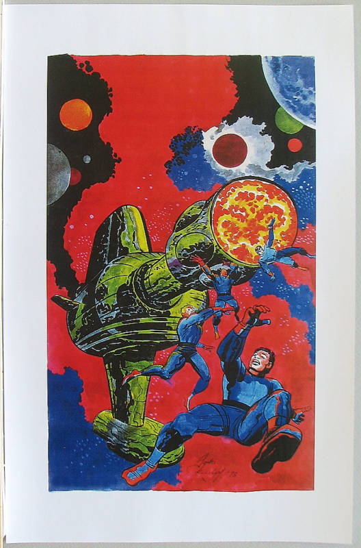 CHALLENGERS of UNKNOWN Pin Up Poster Marvel Kirby Art