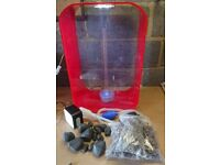 REEF ONE BIORB LIFE 60 RED FISH TANK WITH NEW FILTER NEW MEDIA NEW AIRSTONE