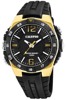 Calypso Reloj de Hombre Plástico Carcasa & Banda ></noscript> Color Oro Akzentuiert...
