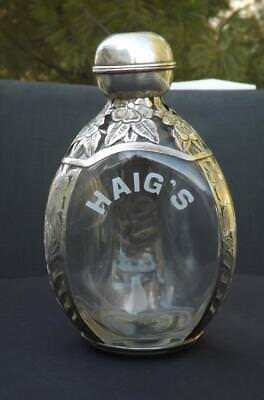 Haig's Sterling Silver Pinched Floral Decanter Marked Sterling 925, used for sale  Danbury