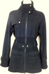 "LULULEMON JACKET M 36"" Bust BLACK White pinstripes OAKVILLE 905-510-8720 call or text SPRING COAT JERSEY KNIT"