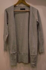 Zara´s long grey cardigan. Size L