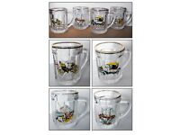 4 Vintage/Retro Shot Glasses with Handles